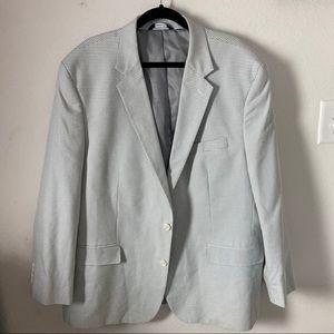 Croft /& Barrow Mens Classic-Fit Pink Blue Sport Coat Blazer